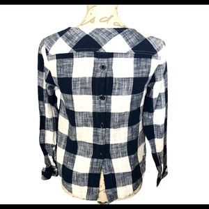 Cloth & Stone Gingham Button Back Linen Bl…